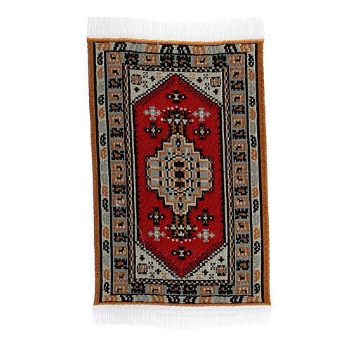 Carpet with various decorations 8x5 cm for Nativity scene 10-16 cm 3