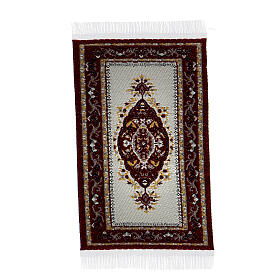 Decorated carpet 8x5 cm for Nativity Scene with 10-16 cm figurines s5