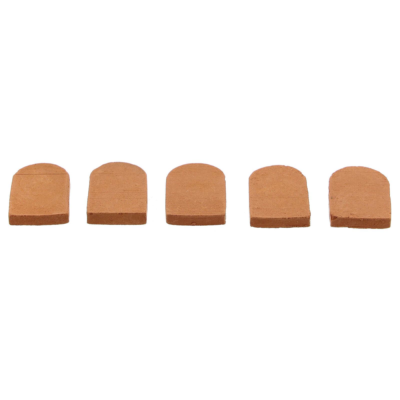Tuiles terre cuite crèche 2x1,5 cm 100 pcs 4