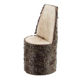 Cadeira com encosto miniatura 5 cm madeira para presépio com figuras altura média 8 cm s2