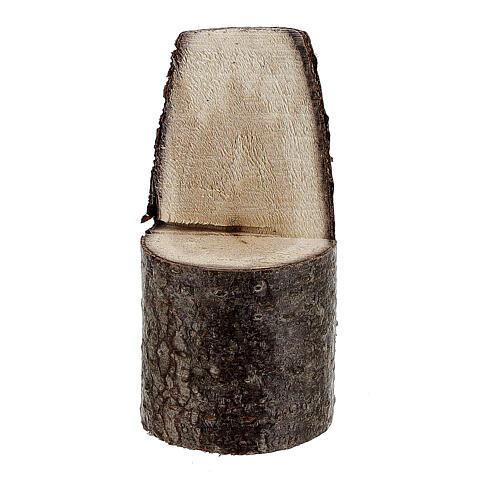 Cadeira com encosto miniatura 5 cm madeira para presépio com figuras altura média 8 cm 1