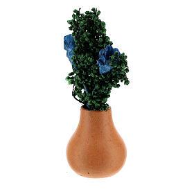 Jar flowers and leaves h 5 cm Nativity scene 8 cm s2