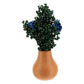 Jar flowers and leaves h 5 cm Nativity scene 8 cm s3