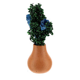 Flower pot with leaves h 5 cm for Nativity Scene with 8 cm figurines s2