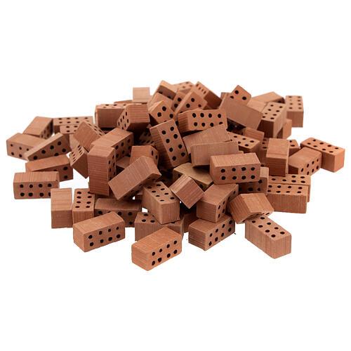 Rectangular terracotta bricks 1x2x1 cm 100 pcs 1