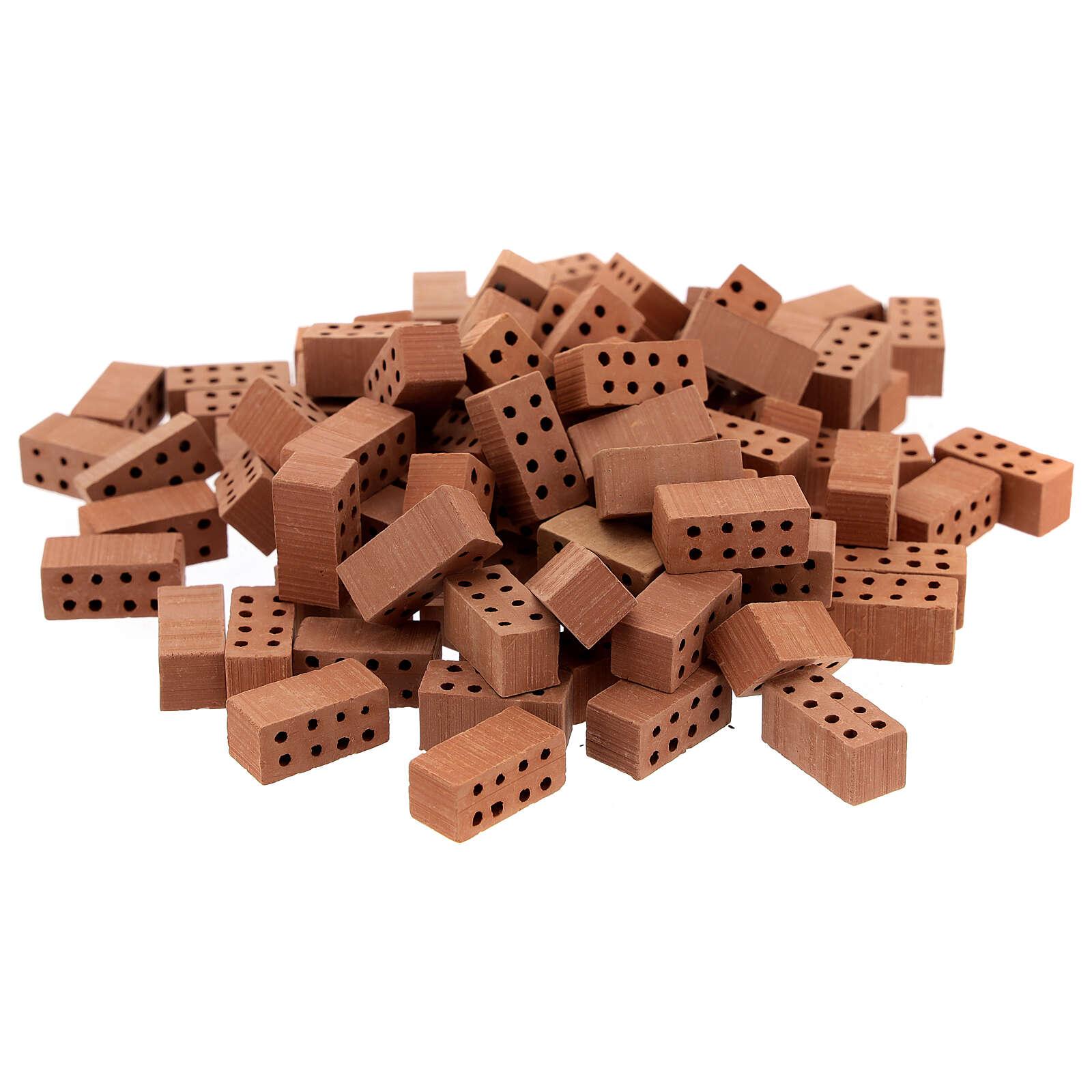 Briques rectangulaires terre cuite 1x2x1 cm 100 pcs 4