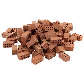 Briques rectangulaires terre cuite 1x2x1 cm 100 pcs s1