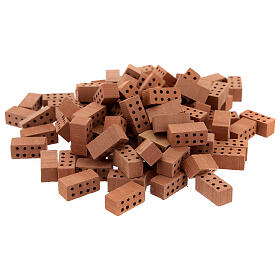 Mattoncini rettangolari terracotta 1x2x1 cm 100 pz s1