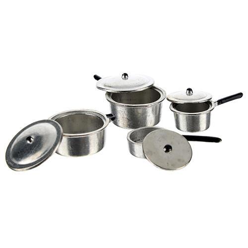 Set 4 casseroles métal crèche 6-8 cm 2