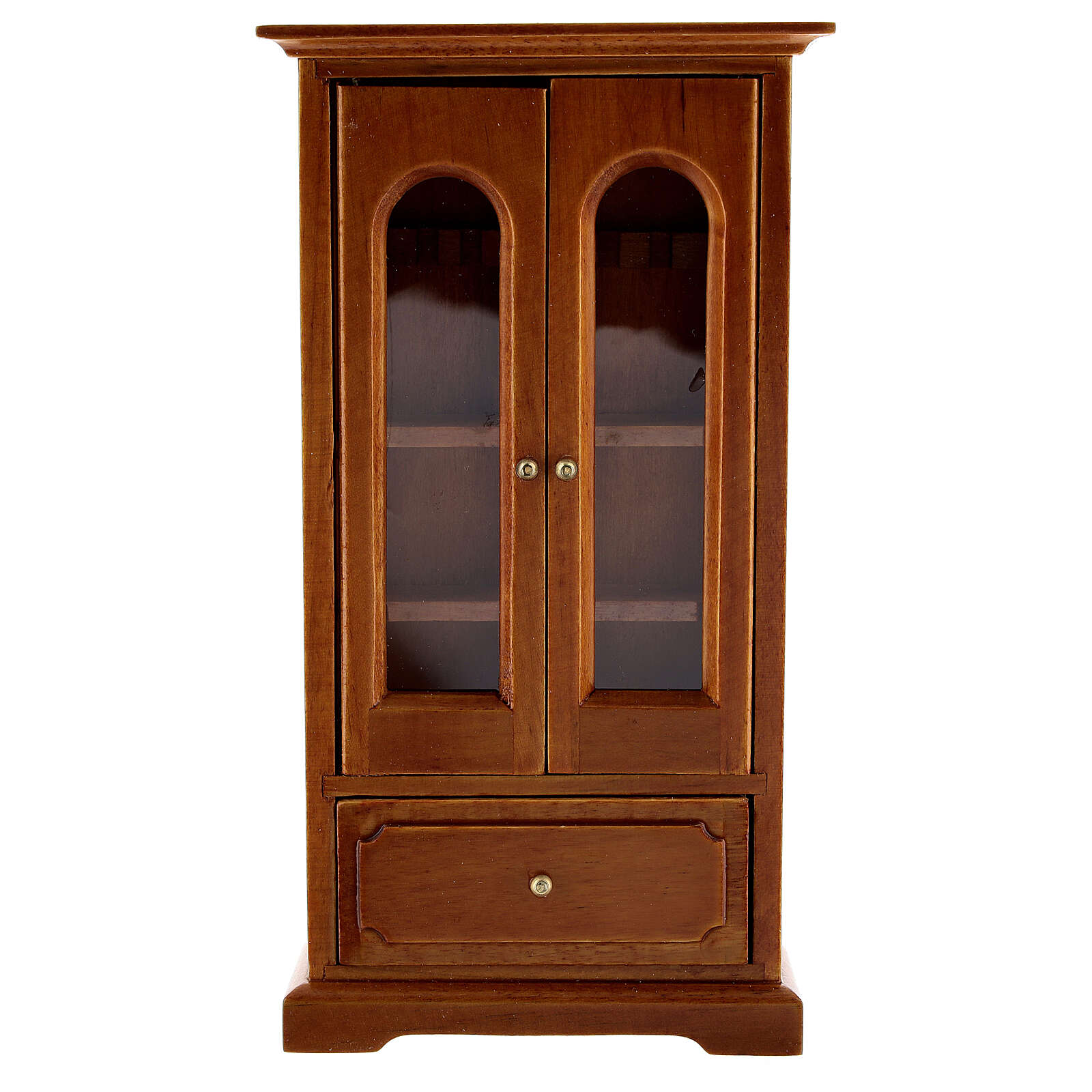 Armário madeira miniatura 14,5x7,5x3 cm para presépio com figuras altura média 12 cm 4