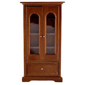 Armário madeira miniatura 14,5x7,5x3 cm para presépio com figuras altura média 12 cm s1