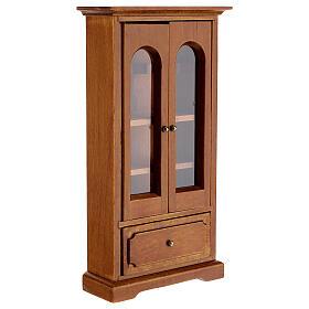 Armário madeira miniatura 14,5x7,5x3 cm para presépio com figuras altura média 12 cm s3