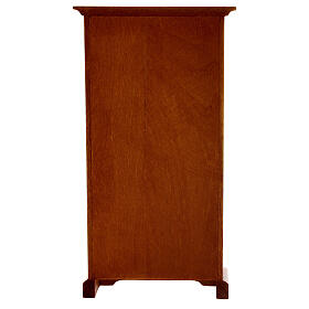 Armário madeira miniatura 14,5x7,5x3 cm para presépio com figuras altura média 12 cm s4