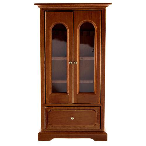 Armário madeira miniatura 14,5x7,5x3 cm para presépio com figuras altura média 12 cm 1
