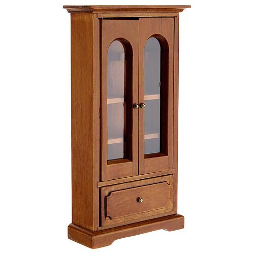 Armário madeira miniatura 14,5x7,5x3 cm para presépio com figuras altura média 12 cm 3