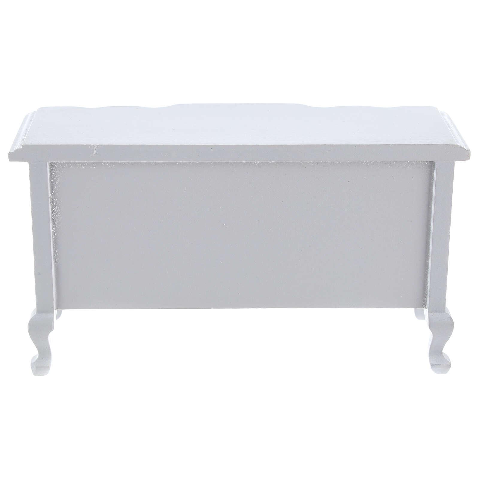 Furniture in white wood room 7 pieces Nativity scene 12 cm 4