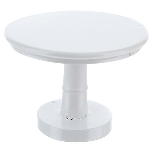 Meubles bois blanc salle à manger 7 pcs crèche 12 cm 7