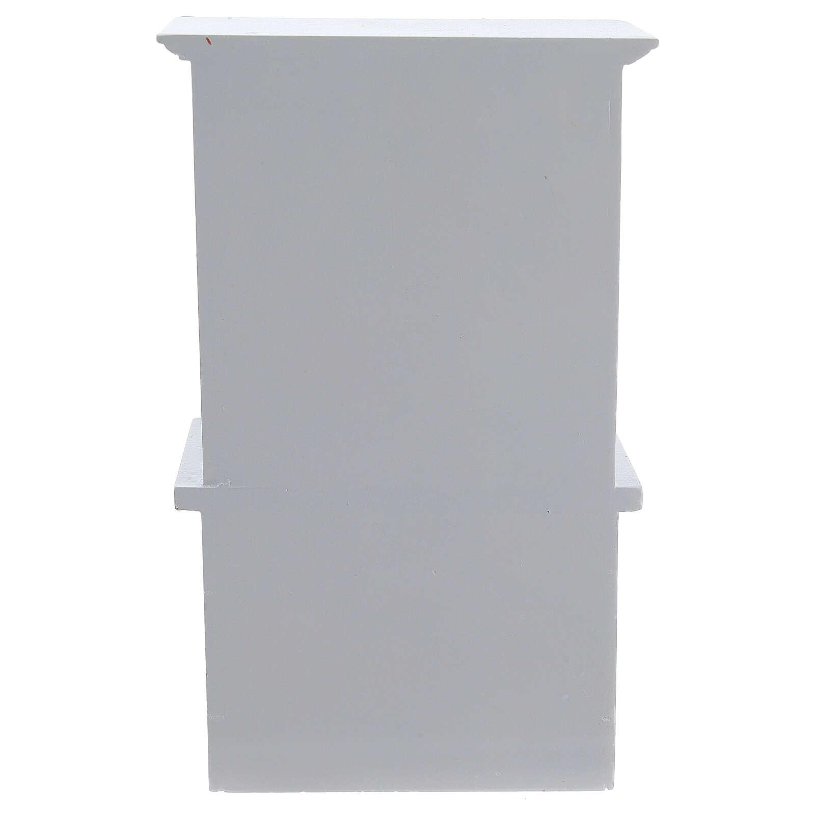 Mobiliário sala de estar 7 peças madeira branca para presépio com figuras altura média 12 cm 4