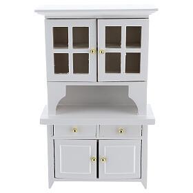 Mobiliário sala de estar 7 peças madeira branca para presépio com figuras altura média 12 cm s4