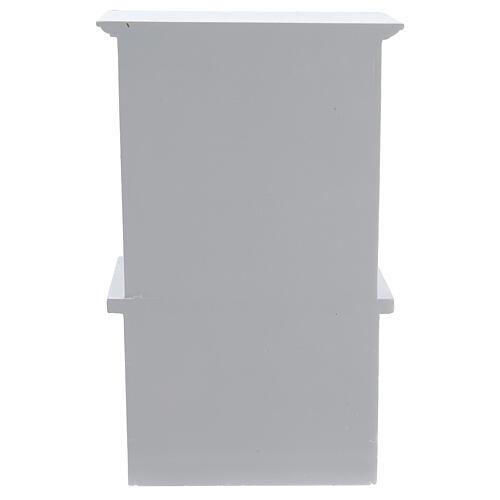 Mobiliário sala de estar 7 peças madeira branca para presépio com figuras altura média 12 cm 10