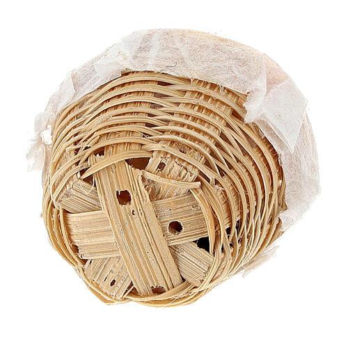 Set 6 baskets with bread Nativity scene 8-10 cm 5