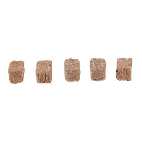 Mattoncini pietra per presepe 1x2x1 cm 100 pz s2
