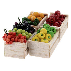 Boxes of fruits set of 12 for Nativity Scene s2