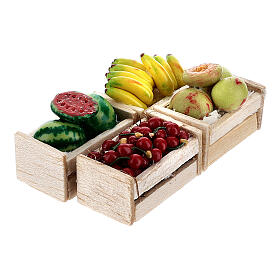 Boxes of fruits set of 12 for Nativity Scene s4