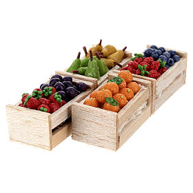 Boxes of fruits set of 12 for Nativity Scene s6