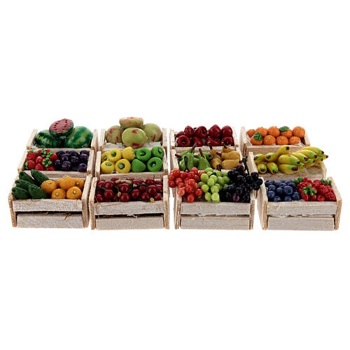 Boxes of fruits set of 12 for Nativity Scene 1