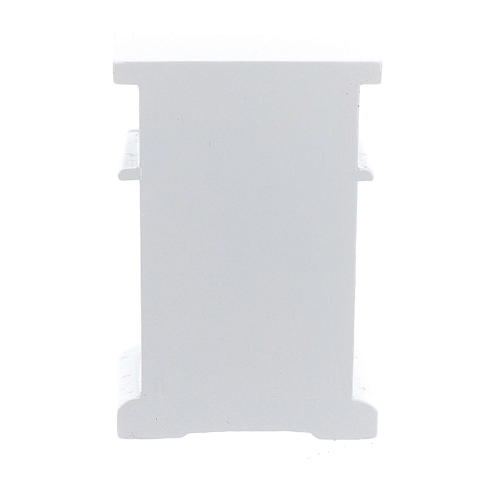 White wood nightstand 6x4x3 cm for Nativity Scene with 12-14 cm figurines 4