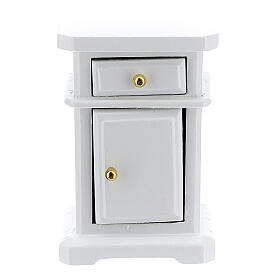 White wood nightstand 6x4x3 cm for Nativity Scene with 12-14 cm figurines s1