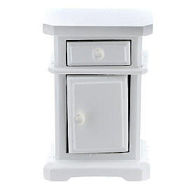 White wood nightstand 6x4x3 cm for Nativity Scene with 12-14 cm figurines s2