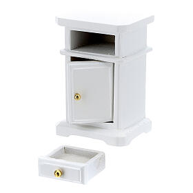 White wood nightstand 6x4x3 cm for Nativity Scene with 12-14 cm figurines s3