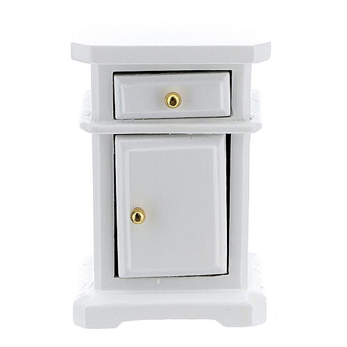 White wood nightstand 6x4x3 cm for Nativity Scene with 12-14 cm figurines 1