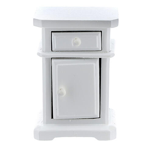 White wood nightstand 6x4x3 cm for Nativity Scene with 12-14 cm figurines 2