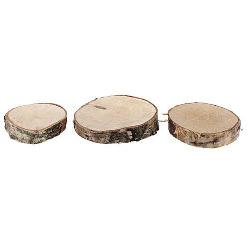 Tree trunk sections for Nativity Scene diameter 6-8 cm 2