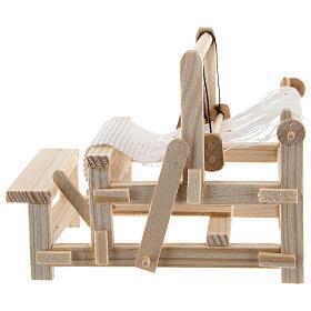 Métier à tisser bois 10x10x5 cm crèche 12-14 cm s3