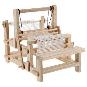 Métier à tisser bois 10x10x5 cm crèche 12-14 cm s4
