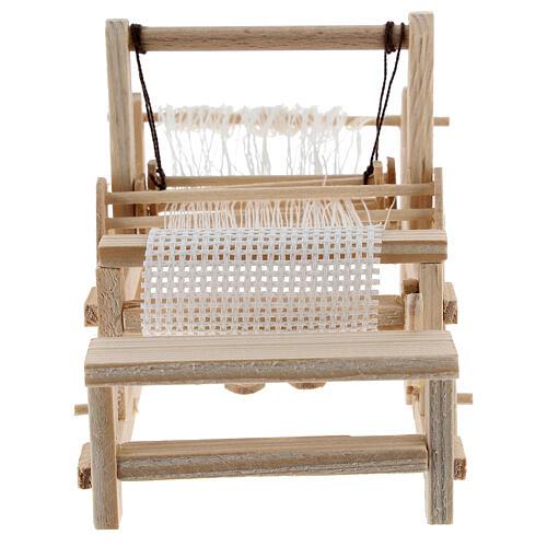 Métier à tisser bois 10x10x5 cm crèche 12-14 cm 1