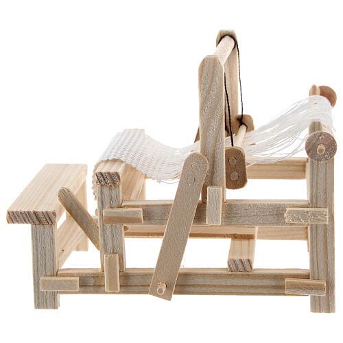 Métier à tisser bois 10x10x5 cm crèche 12-14 cm 3