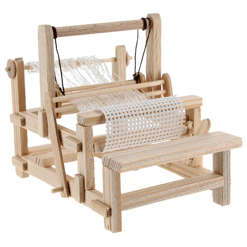Métier à tisser bois 10x10x5 cm crèche 12-14 cm 4