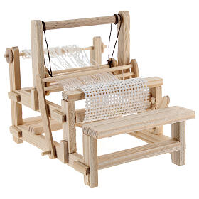 Wood loom 10x10x5 cm for Nativity Scene with 12-14 cm figurines s4
