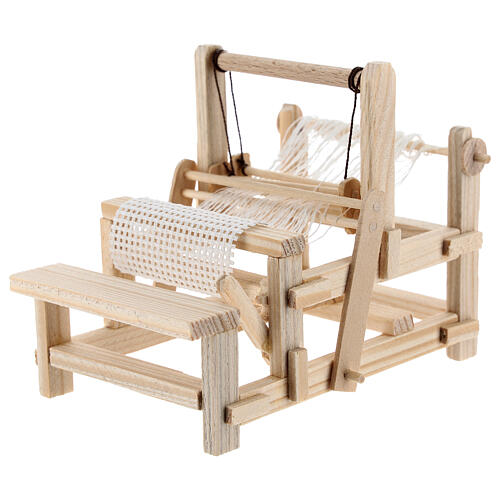 Wood loom 10x10x5 cm for Nativity Scene with 12-14 cm figurines 2