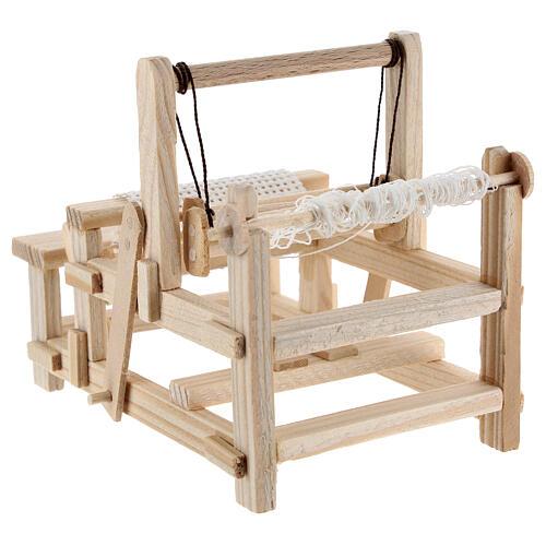 Wood loom 10x10x5 cm for Nativity Scene with 12-14 cm figurines 5