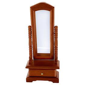 Espelho com gaveta miniatura para presépio com figuras de altura média 10-12 cm s1