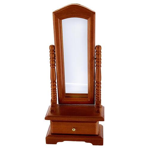 Espelho com gaveta miniatura para presépio com figuras de altura média 10-12 cm 1