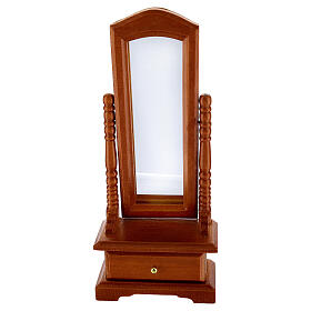 Mirror with drawer for Nativity Scene with 10-12 cm figurines s1