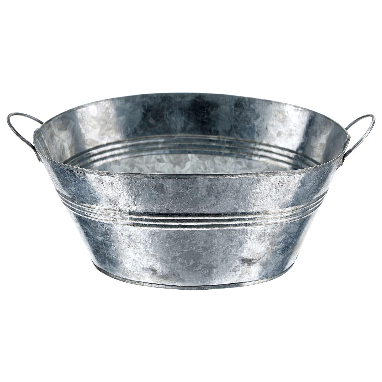 Cuve ovale en métal h 5 cm crèche 24 cm 4