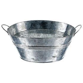 Cuve ovale en métal h 5 cm crèche 24 cm s1